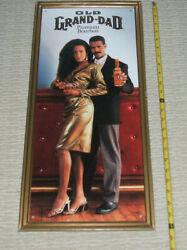 Old Grand Dad Bourbon Whiskey Metal Sign, Nos