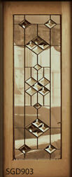Beautiful Bevel Designer Stained Glass Door Pocket. Barn Or Swing Hinged Style