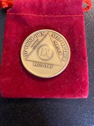 Recovery Mint 11 Year Bronze Aa Meeting Chips - Elevn Year Sobriety Coins/tokens