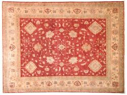 Afghan Ferahan Ziegler Luxury Carpet Hand Knotted 190x260 Red Floral Pattern