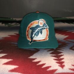 Vintage Miami Dolphins Big Logo Ajd Signature Snapback Hat Cap Spell Out