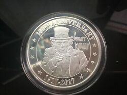 1917-2017 Uncle Sam I Want You 100th Anniversary 1 Oz .999 Silver Round