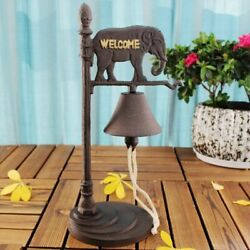 Handmade Dinner Bell Elephant Iron Vintage Rustic Metal Welcome Bell Home Hotel