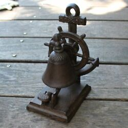 Handmade Dinner Bell Sea Cast Iron Vintage Rustic Metal Welcome Bell Home Hotel