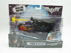 Batman Fire Cycle Rev And Go Motor Mattel 2008 New Free Shipping