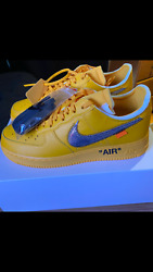 Size 9.5 - Nike Air Force 1 Low X Off-white University Gold - Dd1876-700