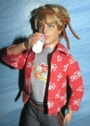 Pepsi Shirt 7761 Cup Bell Jeans Articulate Rooted Hair Ken Doll 60s Style Hippi