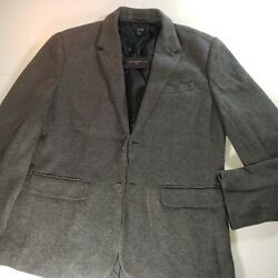 John Varvatos Collection Luxe Sweater Knit Blazer Jacket Sz Lg Gray Nwt Steamed