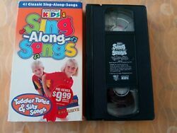 Blockbuster Exclusive Vhs Cedarmont Kids Sing Along Songs Toddler Tunes And Silly