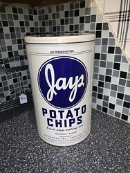 Vintage Jays Metal Potato Chip Can - 1986 Limited Edition 1 Lb Tin Awesome