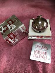 Wallace 1976 Silver Plated Sleigh Bell Ornament Limited Edition Christmas
