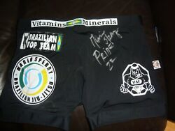 Mario Sperry Fight Worn Pride Fc 22 Fight Shorts And Signed Btt Shirt Mma Ufc Bjj