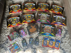 Huge Pokemon Card Lot All Factory Sealed Tins Booster Packs Shining Fates Etb