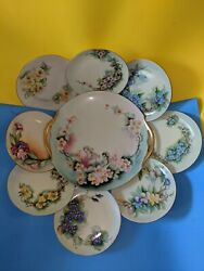 Set Of Hutschenreuther Bavaria Antique 8 Saucers And One Plate. All Set.