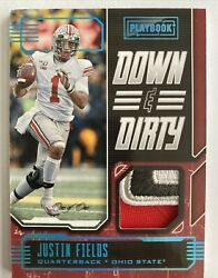 2021 Chronicles Draft Picks Justin Fields Playbook Down And Dirty 1/1 Buckeyes 🔥