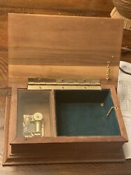 Antique Wooden Sankyo Vintage Music Box With A Jewelry Box Working Very Rare