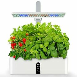 Hydroponic Growing System With Led Grow Light Indoor Herb Garden Starter Plants