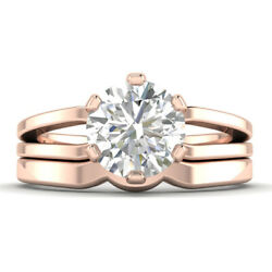 1ct G-si1 Diamond Round Engagement Ring 18k Rose Gold Any Size