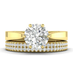 1.6ct G-si1 Diamond Round Engagement Ring 14k Yellow Gold Any Size