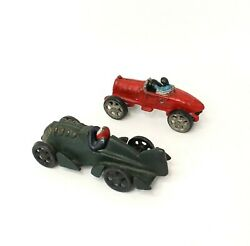 Quaest 1920 Cast Iron Toy Cars Darth Fishtail And Racer Lot Of 2 Reproductions