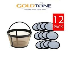 F12 Goldtone Charcoal Coffee Water Disks And Basket Filter For Mr. Coffee Makers
