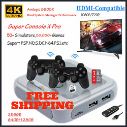 Retro Wifi Super Console X Pro 4k Hd Tv Video Game Consoles For Ps1/psp/n64/dc