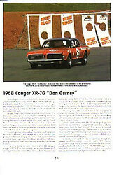 1968 Mercury Cougar Xr-7g Article - Must See