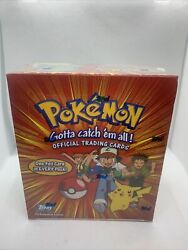 1999 Topps Series 1 Pokemon Tv Animation Ed. Factory Sealed Box With 36 Packs