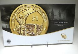 2015 W Native American 1 Coin And Currency Set Enhanced Unc Sacagawea Iron Worker