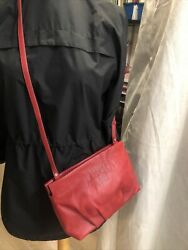 Zara leather red bag $15.00