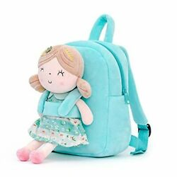 Kids Backpacks for Girls backpack Plush bags with Stuffed doll A07 Green Doll $34.05