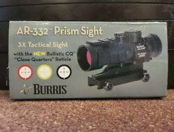 New Burris Ar-332 Tactical 3x32mm Prism Sight / Rifle Scope - Red/green Dot