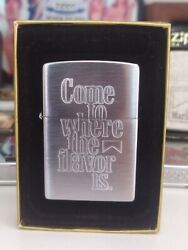 Zippo Lighter Marlboro - Come Where To The Flavor Is - Promotional 2002 New
