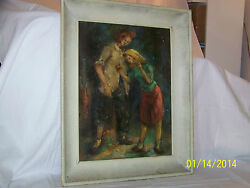 Charles J.dickmanlisted Artist American Antique Original Oil On Canvas