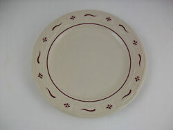 Longaberger Woven Trad Pottery Set 4 Traditional Red 10 Dinner Plates-free Ship