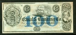 Us 18xx 100 Canal Banking Co. New Orleans Remainder Obsolete Unc Less.
