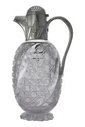 Antique - Plante And Co - Sterling Silver Claret Jug / Decanter - 1894