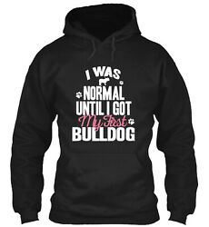 Until I Got My First Bulldog Classic Pullover Hoodie Poly Cotton Blend