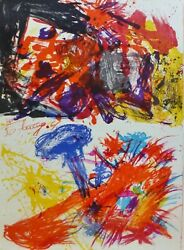 Walasse Ting 丁雄泉 Composition N/t 1961 Main Signandeacutee 48/50 Lithographie Chinois /