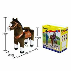 Official Riding Horse Toy Chocolate Brown With White Hoof Giddy Up Pony Plush