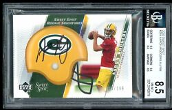 2005 Sweet Spot Aaron Rodgers Rc Auto /199 284 Bgs 8.5 Nm-mt+ .5 Away Bgs 9