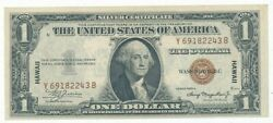 1935-a 1 One Dollar Silver Certificate Hawaii-very Nice Note-ships Free Inv2