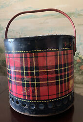 Vintage 1950and039s The Skotch Grill Red Plaid 4 Gallon Deluxe By Hamilton Scotch