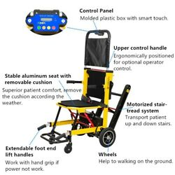 Light Weight Foldable Lithium Battery Powered Aluminum Alloy Stair Chair