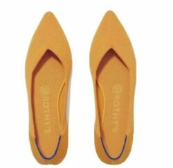 Rothys The Point Marigold Yellow Flats Size 10 - Great Condition