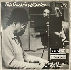 Duke Ellington Ray Brown This Oneand039s Blanton Sealed Analogue Productions 45rpm