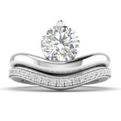 1.25ct G-si2 Diamond Round Engagement Ring 14k White Gold Any Size