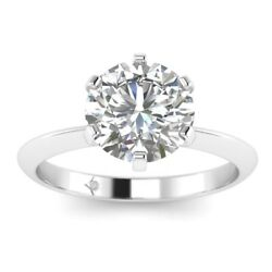 1ct D-vs1 Diamond Solitaire Engagement Ring 18k White Gold Any Size