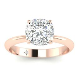 1ct D-vs1 Diamond 4-prong Engagement Ring 18k Rose Gold Any Size