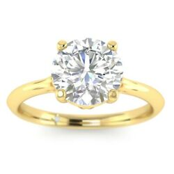 1ct D-vs1 Diamond Unique Engagement Ring 18k Yellow Gold Any Size